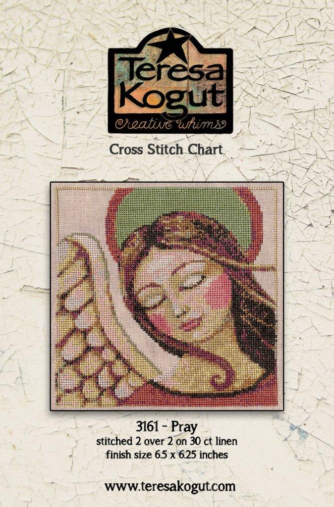 Pray counted cross stitch pattern