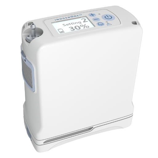Smallest Model!  used portable oxygen concentrator - only 2.8 lbs Ony 289 hours! tons of accessories!