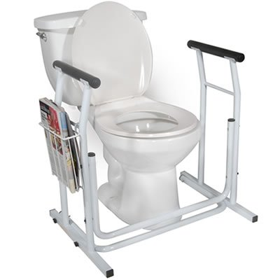 Height Adjustable Toilet Safety Rail - Free Standing