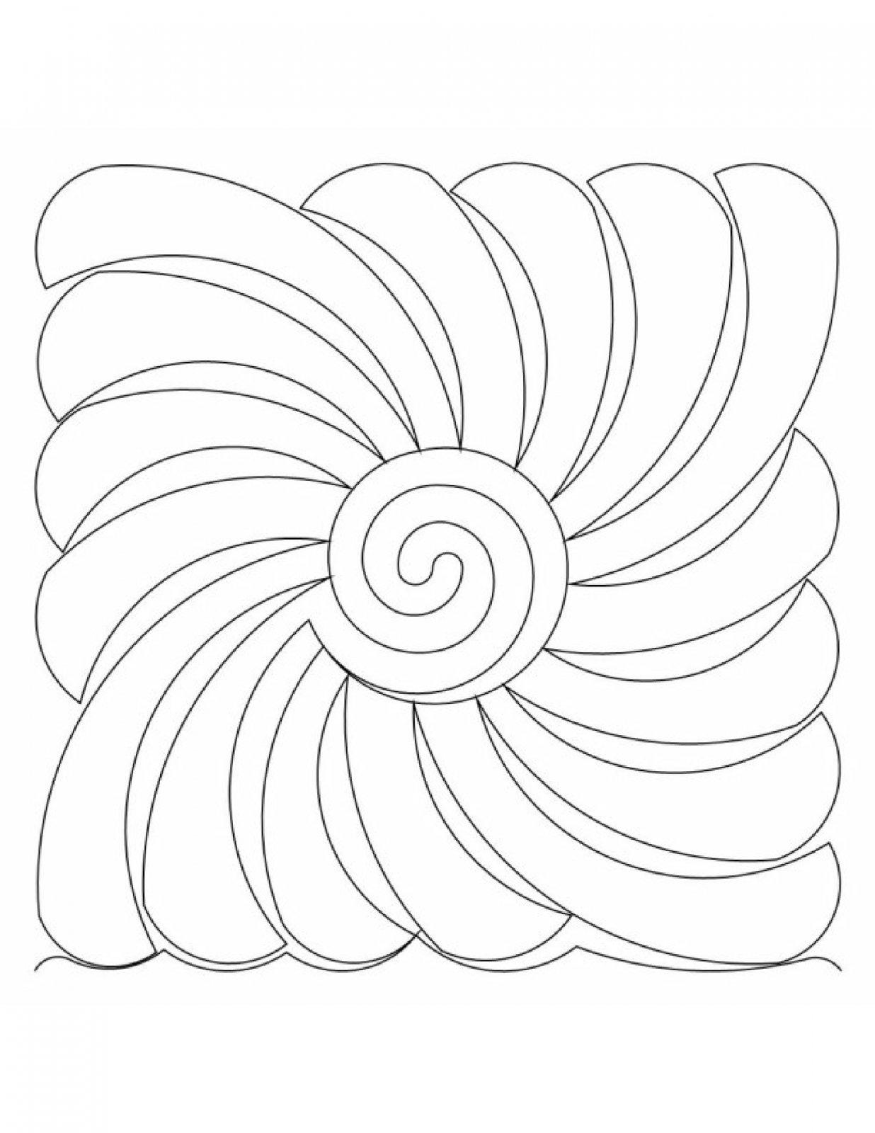 Abstract Feather Swirl Block E2E .02