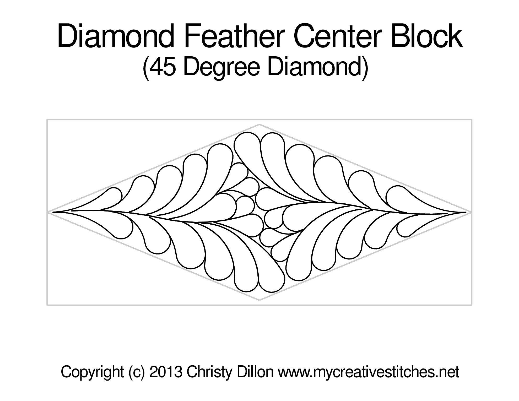 Diamond 45 Degree Feather-Block