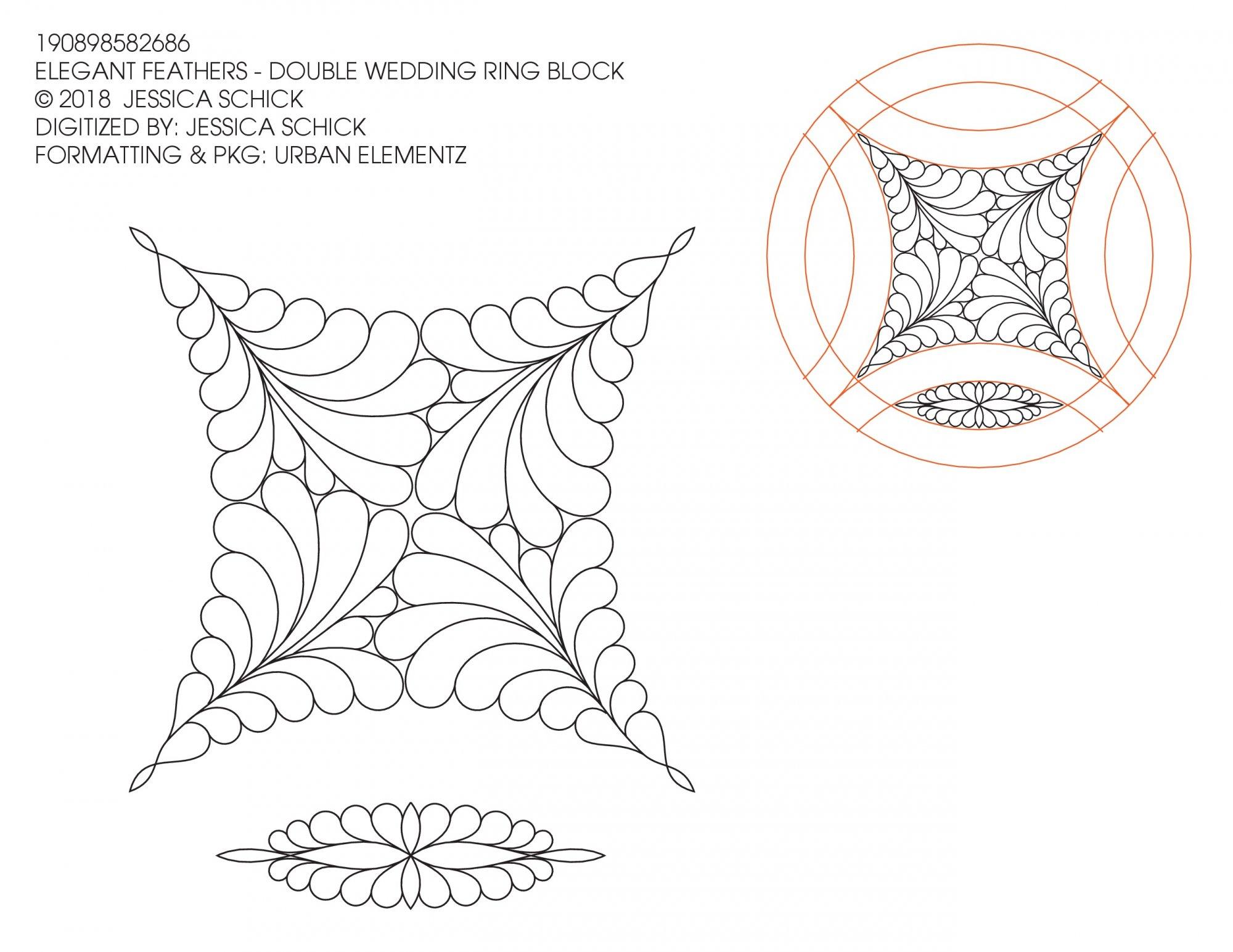 Elegant Feathers DWR Block