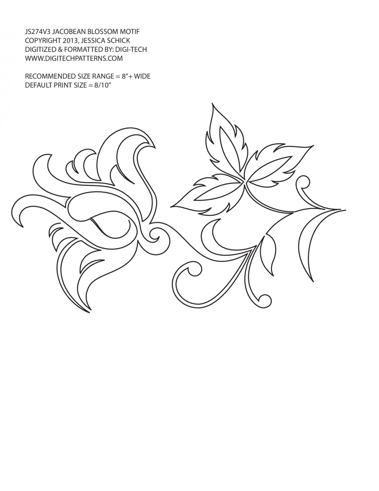 Jacobean Flower Blossom - Motif