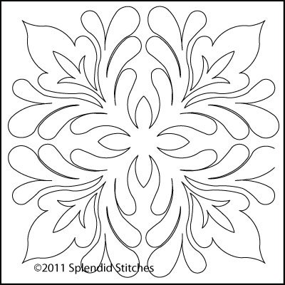 Leaf Arabesque - Block