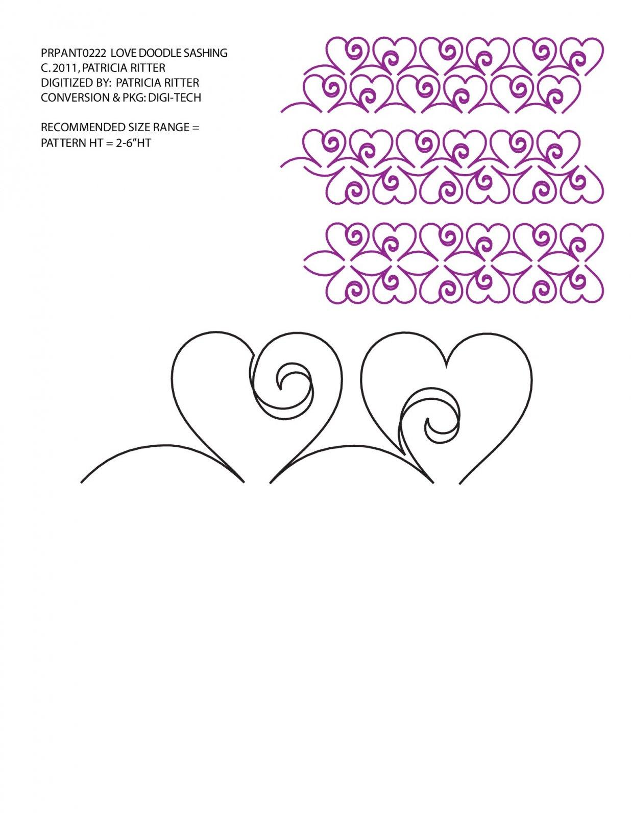 Love Doodle - Sashing