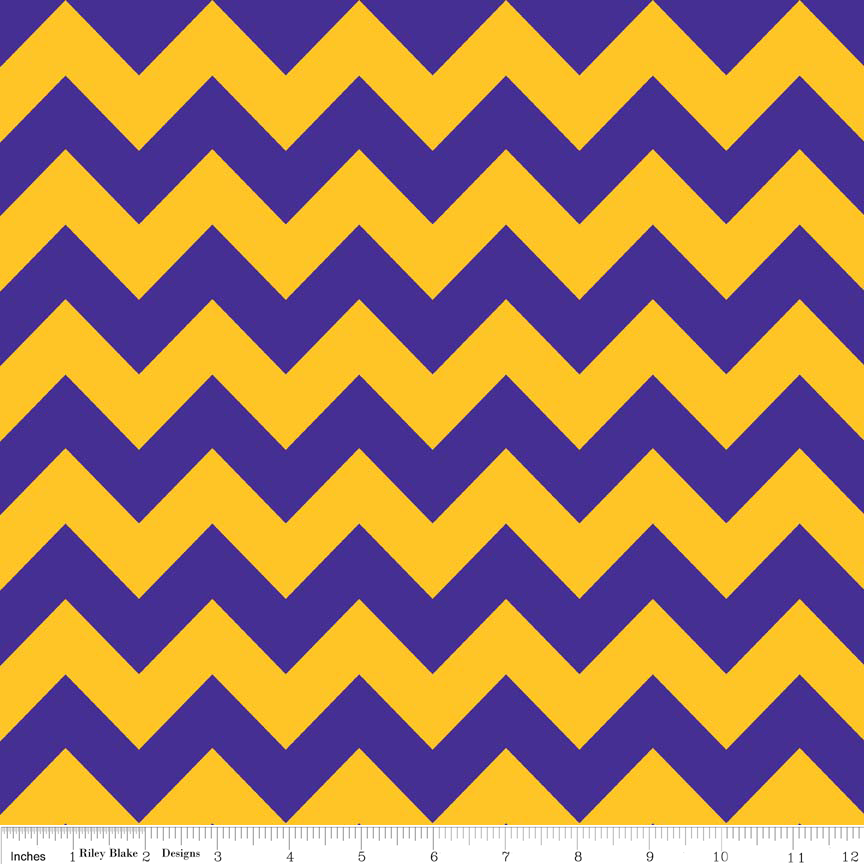 RB Chevron Medium Purple/Gold
