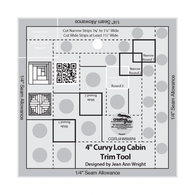 4 Curvy Log Cabin