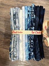 Blue Batik 14 Fat 1/4's