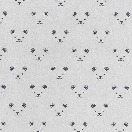 Little Savannah Flannel Bears Grey