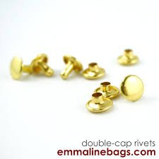 50 Medium Rivets Gold
