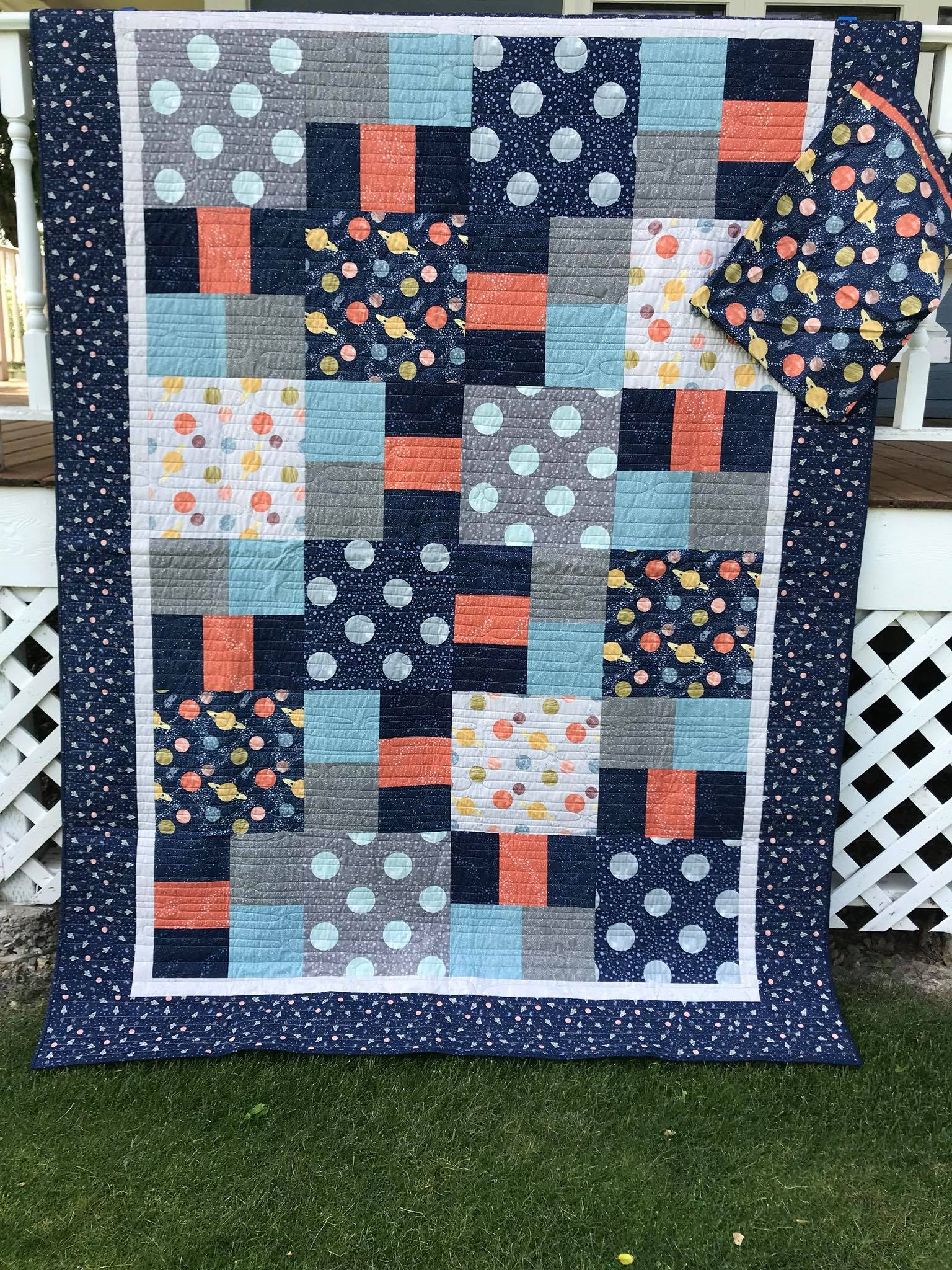 Planets Quilt- Twin Size