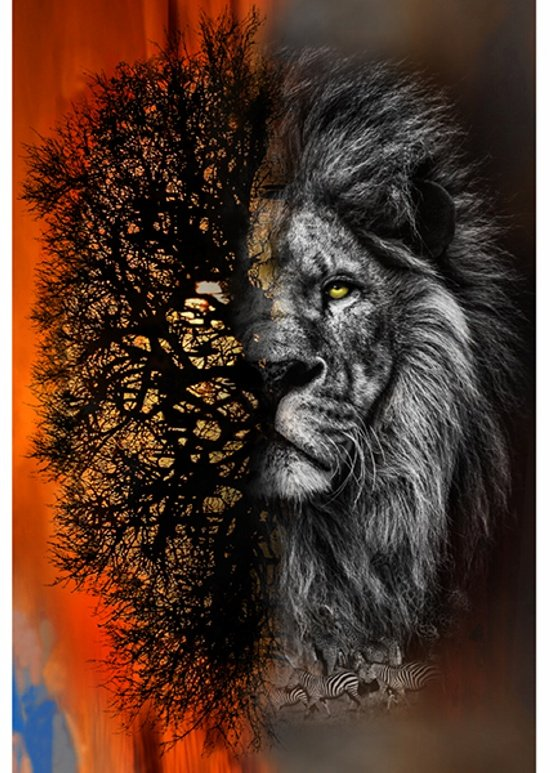 Lion Call of the Wild Digital Panel
