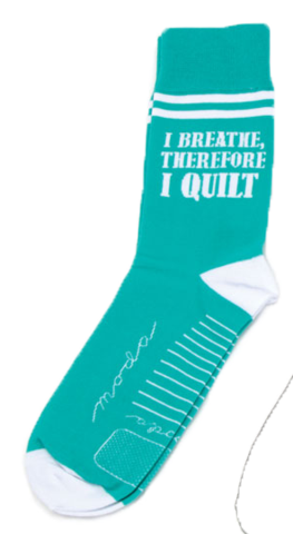 I Breathe Therefore, I Quilt Socks