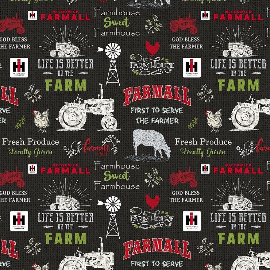 Sykel Enterprises - Farmall Tractor - Farmall Chalkboard - 10341BLK - Black