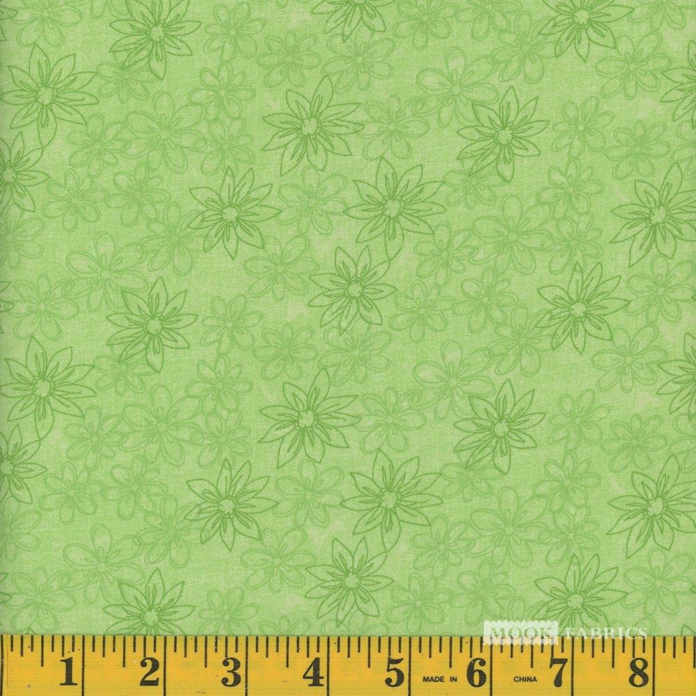 108 - Mook - Sketched Floral - CD-49795-40 - Green