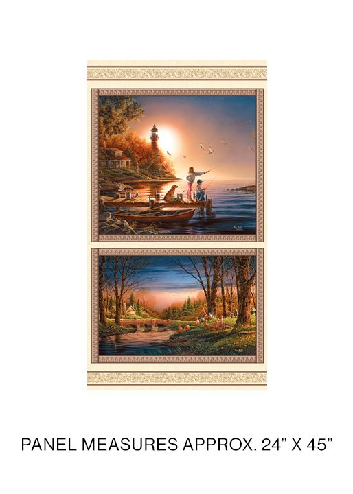 Benartex - Terry Redlin - Spring/Summer Seasons Panel - 12327-99 - Multi