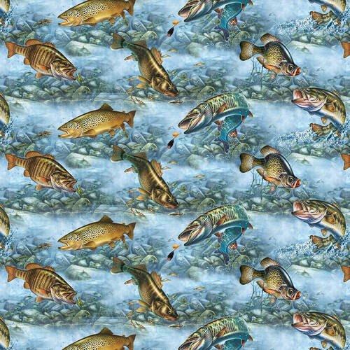 Blank Quilting - Keep It Reel - Blue - 1359-70 - Blue