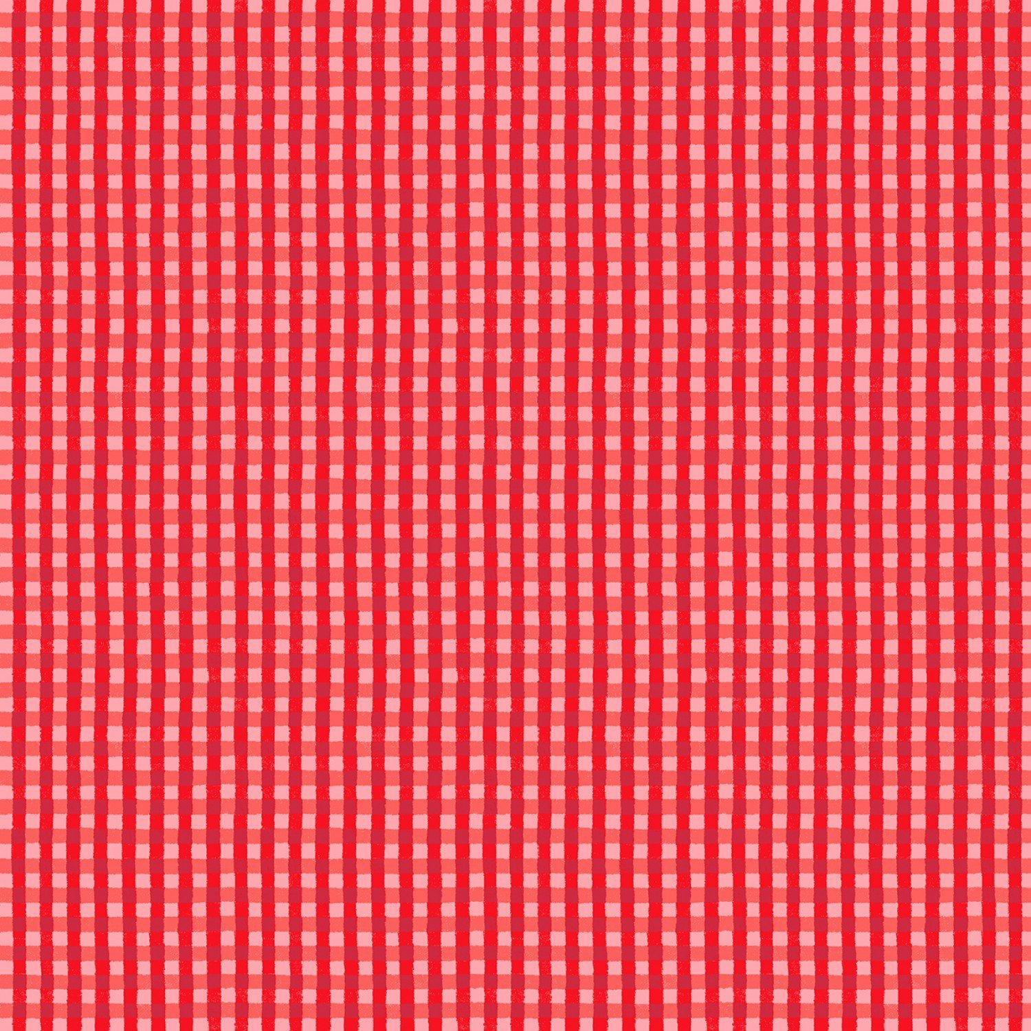 Foust Textiles - Farm Friends - Red Gingham - 52444 A - Red