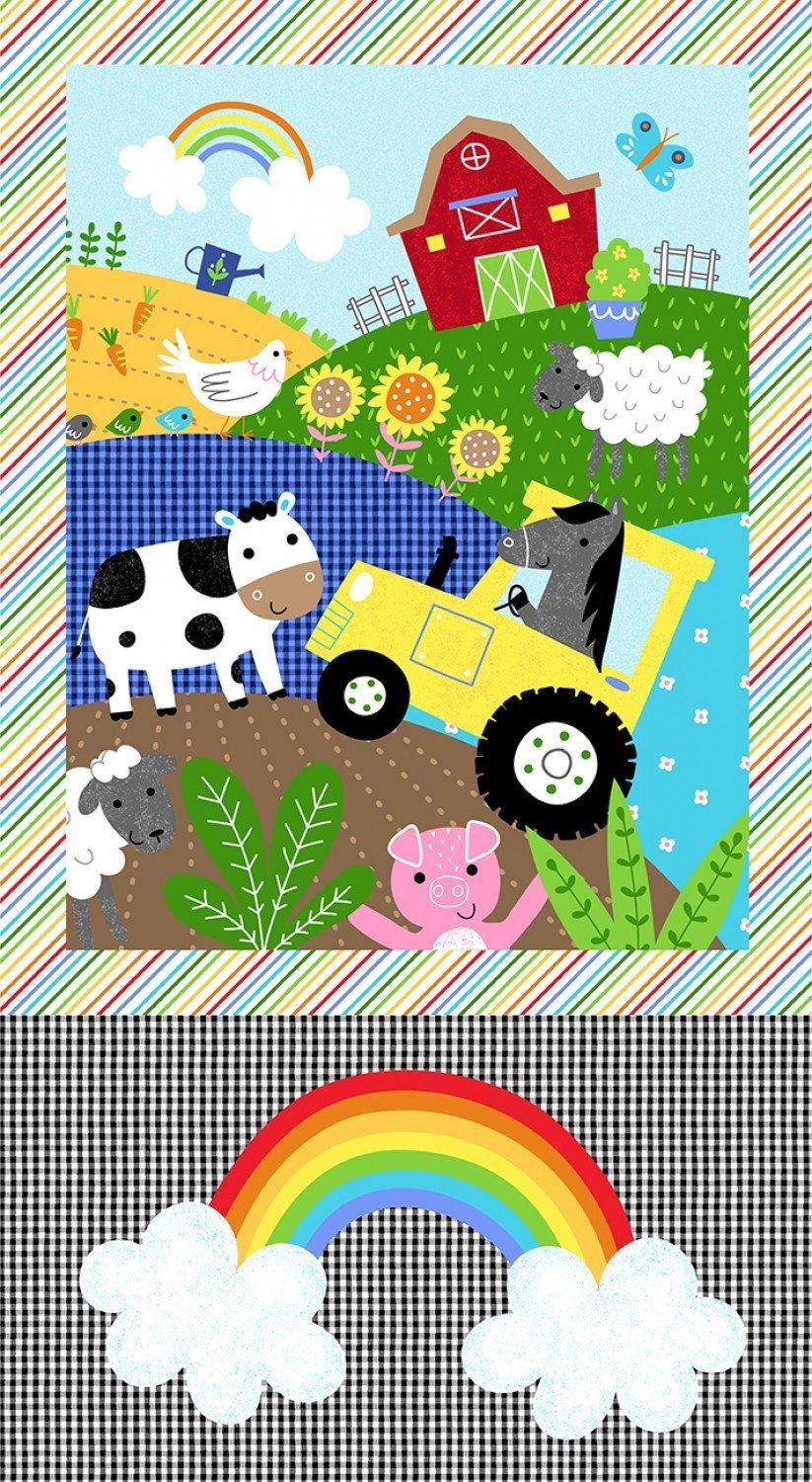 Foust Textiles - Farm Friends - Panel - 52611P - Multi