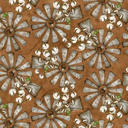 Love 4 Cotton - Lg. Windmills - 9432-35