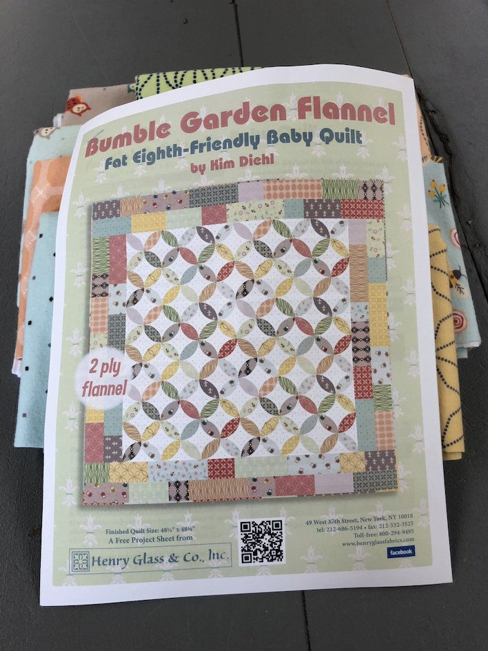 Bumble Garden Baby Quilt Kit