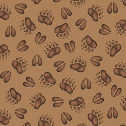 Cozy Cabin - 9354-A - Hoof prints