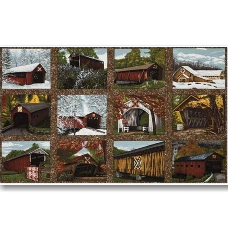 Quilt Barns and Bridges