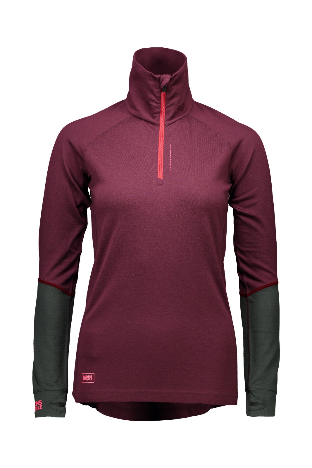 Mons Royale Womens Checklist LS 1/4 Zip 17/18