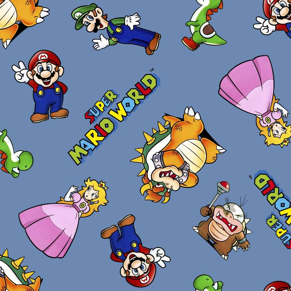 Mario and Friends -  Cotton Fabric