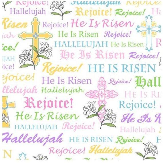 A Joyful Easter - Pastel Text on White