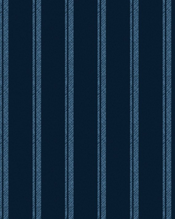 Normandy Court - Navy ticking stripe