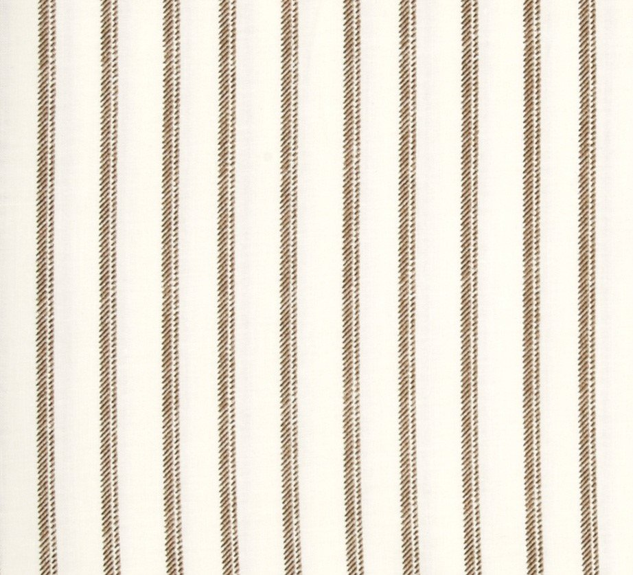 Normandy Court - Beige Ticking Stripe