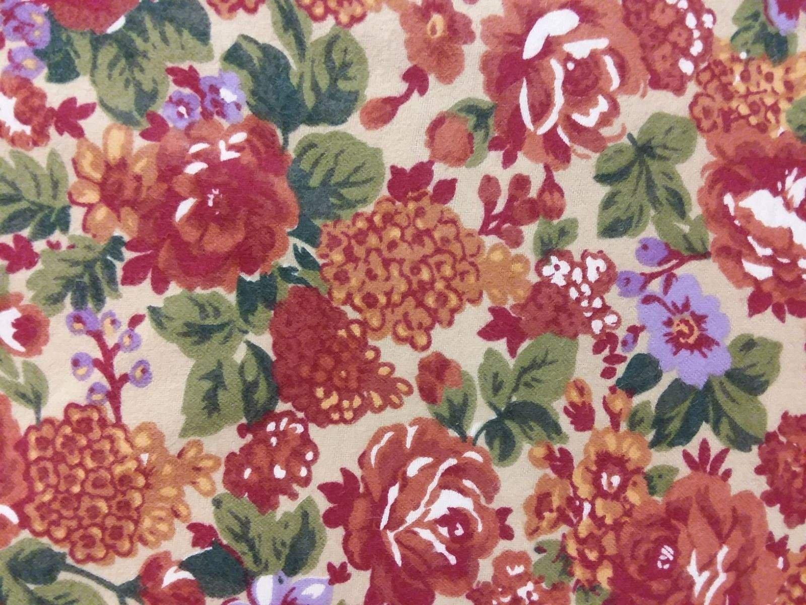 Quilter's Flannel - Orange Floral FLANNEL