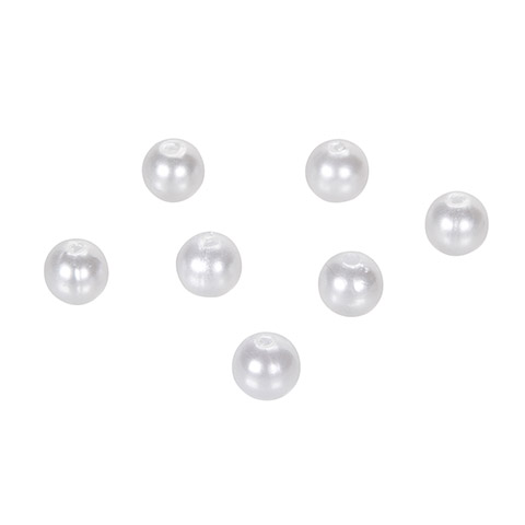 Pearl Beads - Round - White - 8mm - 80 Pieces