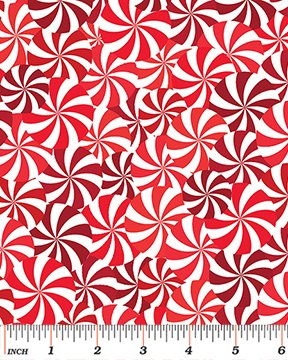 Winter Novelties III - Candy Swirls Red/White