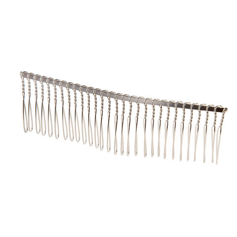 Hair Comb - Silver Wire, 4.25