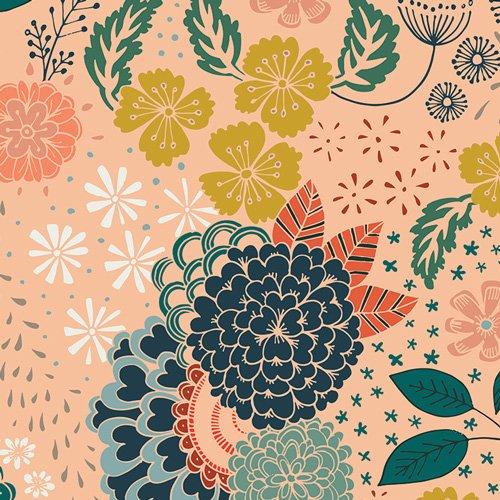 Fleet & Flourish - Floral peach bkgrd (What Awaits Above)