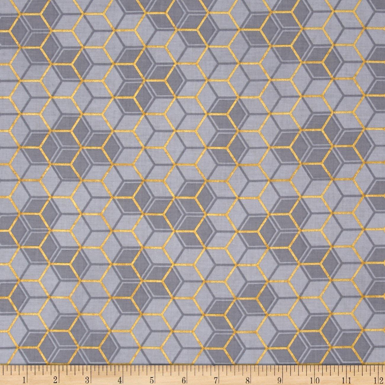 Clarabelle - Gray/Gold Geometric