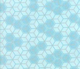 Clarabelle - Mist/silver geometric