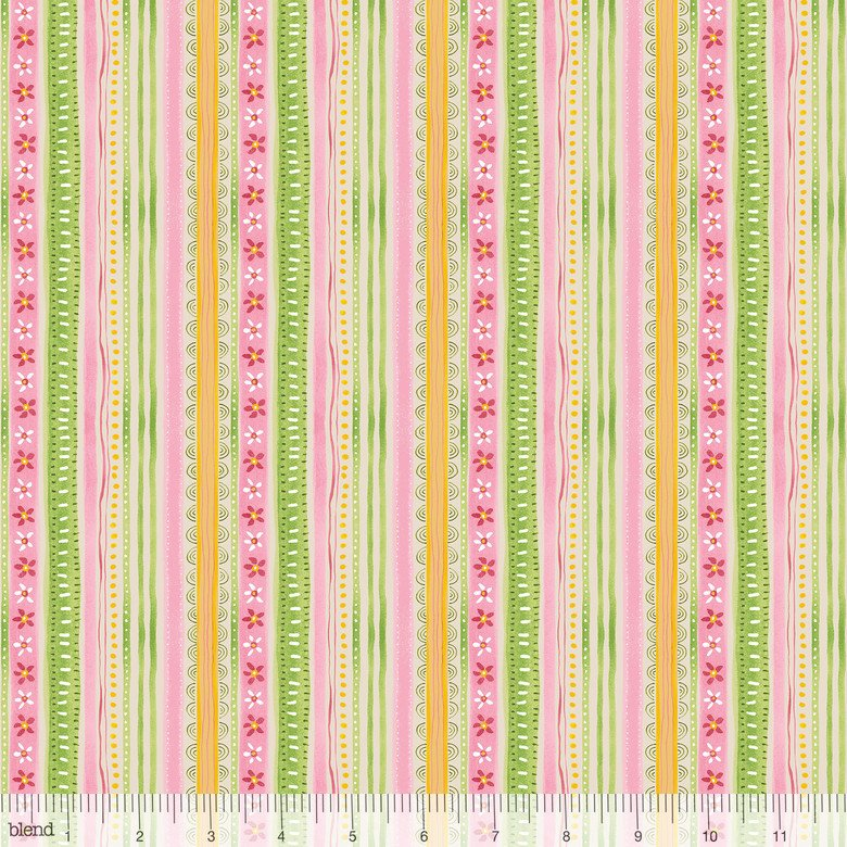 Promise of Spring -  Bunny Hop Stripes w/ flowers