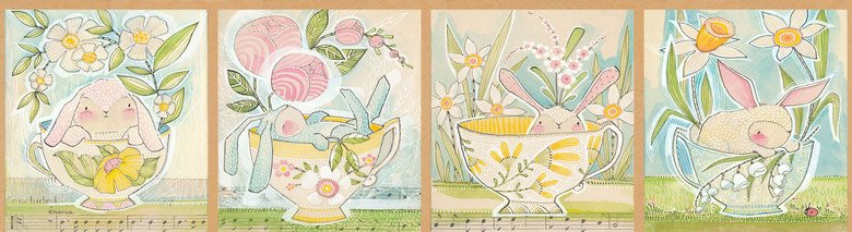 Promise of Spring - Tea with Bunny Multi