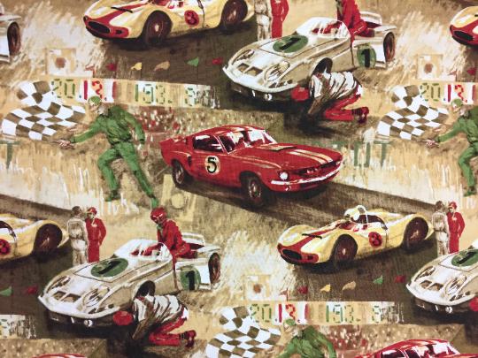 Vintage Sports - Car Racing Beige