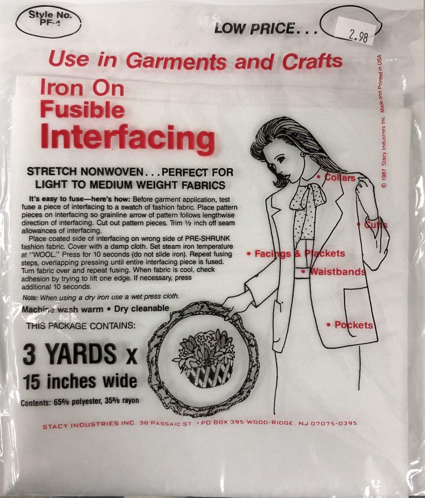 Iron on Fusible Interfacing 15 x 3 yds