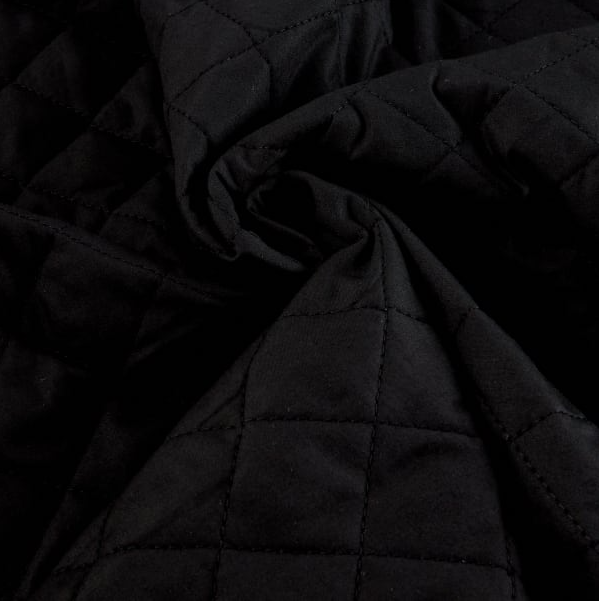 Double - Faced Quilted - Black