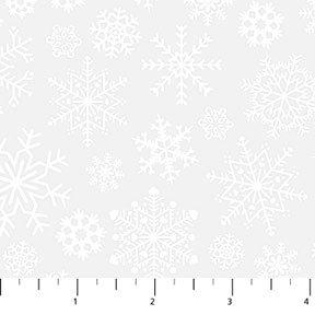 Silent Night White on White Snowflake