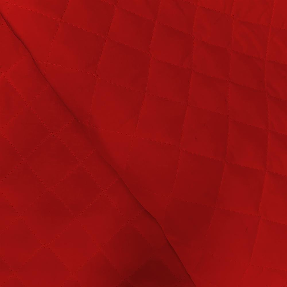 Double -Faced Quilted - Real Red