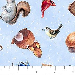 Magic of Christmas  - animals allover blue