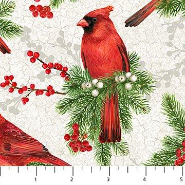 Cardinal Woods - Large Cardinal white