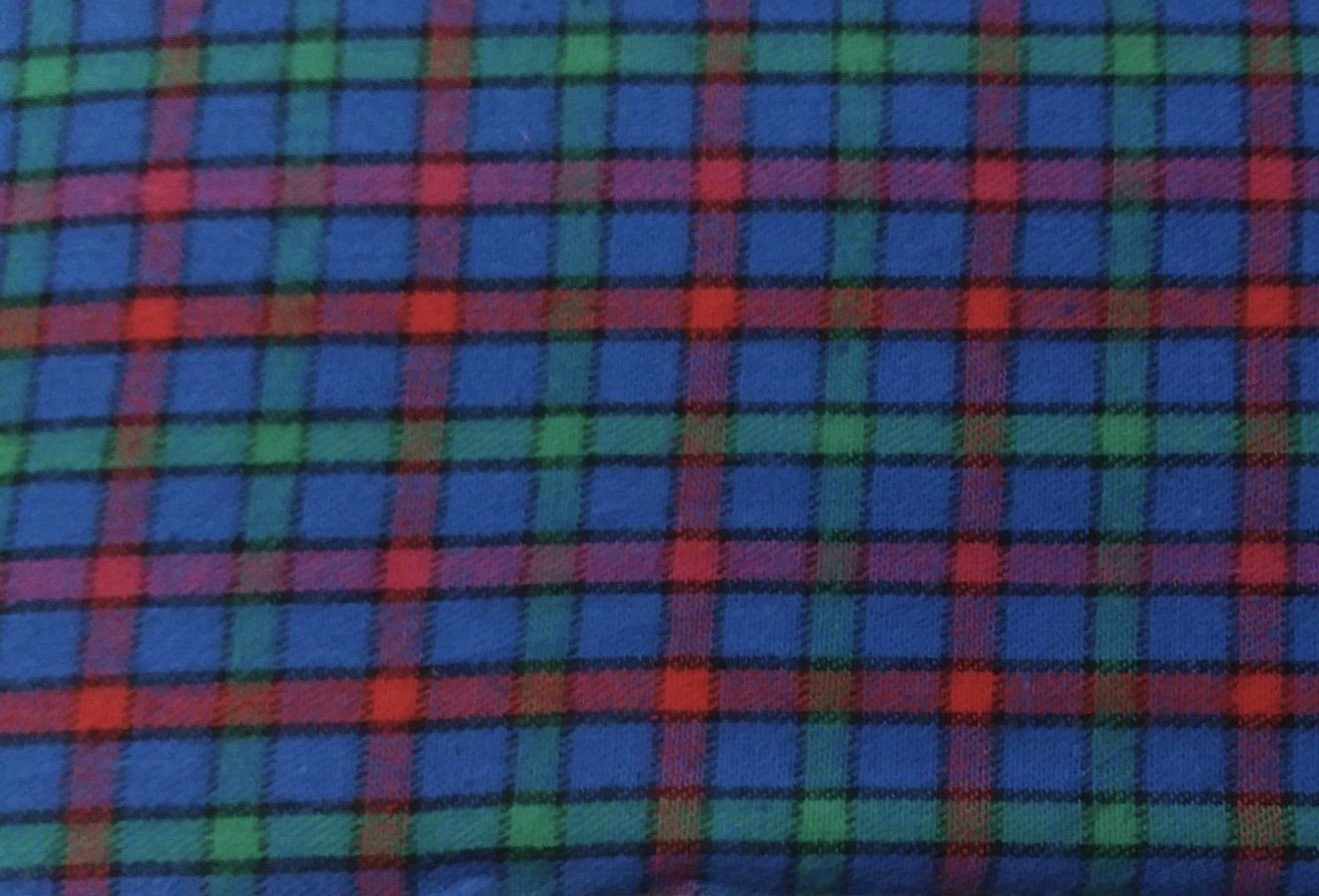 Blue, Red, Green Plaid FLANNEL
