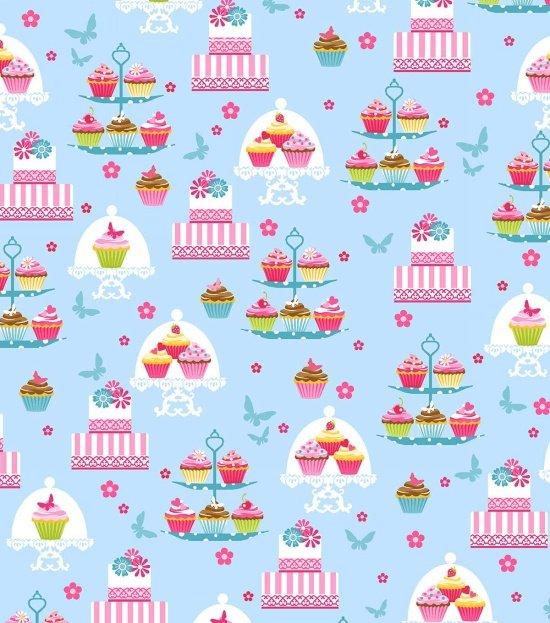 Cupcake Cafe - Cupcakes on Blue